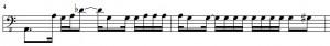 Tutorialsong Bassline Takt 3 und 4